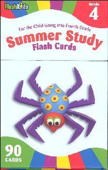 Summer Study Flash Cards Grade 4 (Flash Kids)