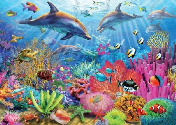 Dolphin Coral Reef Puzzle (100 pieces)
