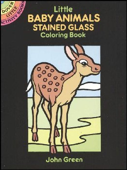 Baby Animals Little Stained Glass Coloring Book