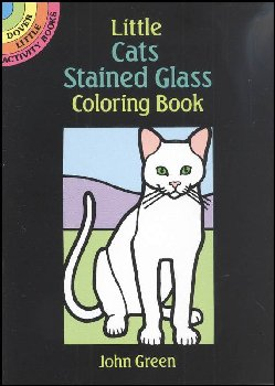 Cats Little Stained Glass Coloring Book