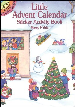 Little Advent Calendar Sticker Activity Book