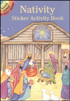 Nativity Small Format Sticker Activity Book