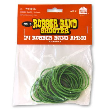Rubber Bands for Pistols (package of 24)