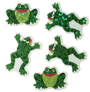 Frogs (Sparkle) Stickers (Prismatic)