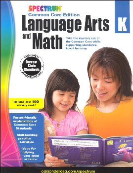 Spectrum Common Core Language Arts and Math K with Flashcards
