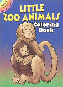 Little Zoo Animals Small Format Coloring Book