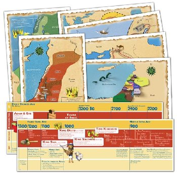 God's Great Covenant Old Testament Timeline and Map Set