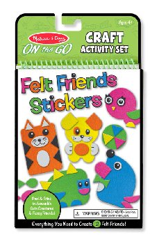 On the Go - Felt Friends Stickers