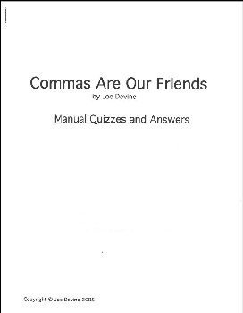Commas Are Our Friends Quizzes