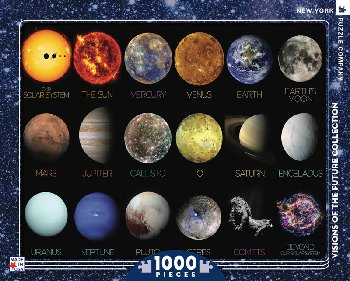 Solar System 1000 piece Puzzle (Visions of the Future)
