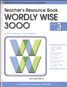 Wordly Wise 3000 3 Tchr Resource Book (2nd Ed.)