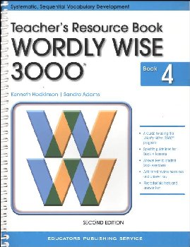 Wordly Wise 3000 4 Tchr Resource Book (2nd Ed.)