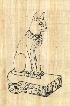 Bastet Cat (Paint Your Own Papyrus)