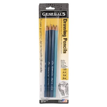 Drawing Pencil Set (HB, 3B, 5B, 6B)