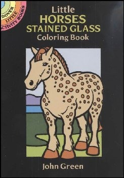 Horses Little Stained Glass Coloring Book