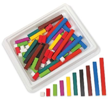 Cuisenaire Rods Intro Set w/ 74 Wooden rods