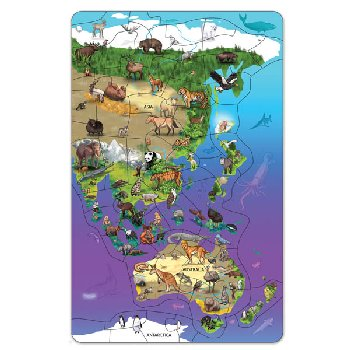 Magnetic Wildlife Map Puzzle: Asia & Australia