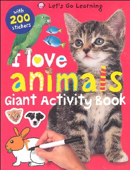 Let's Go Learning: I Love Animals Activity Book