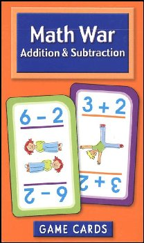Math War Addition & Subtraction Card Game