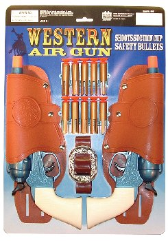 Western Air Pistols Double Holster Set (Dart Gun)
