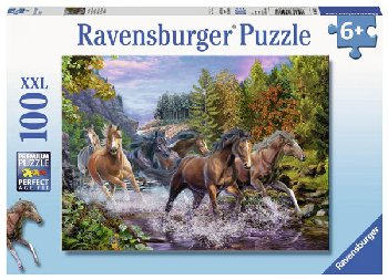 Rushing River Horses Puzzle (100 piece)