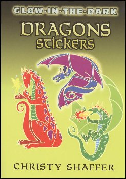 Glow-in-the-Dark Dragons Small Format Stickers
