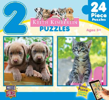 Kimberlin Perfect Pals 2 Pack Puzzle (24 Pieces)