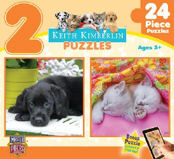 Kimberlin Soft Snuggles 2 Pack Puzzle (24 Pieces)