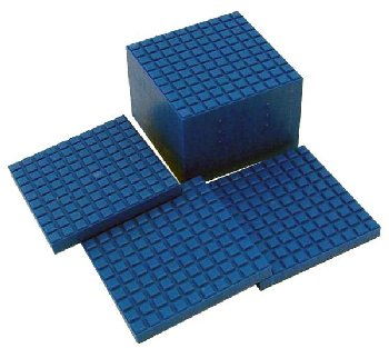Interlocking Base Ten Blocks - Blue 10 Flats