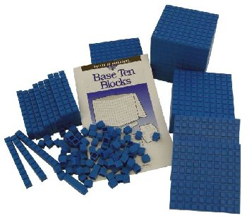Interlocking Base Ten Starter Set - Blue