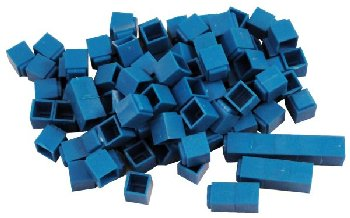 Interlocking Base Ten Blocks-Blue 100 Unit Cube