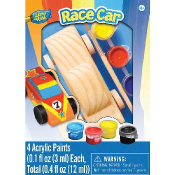 Paint Your Own Small Wood Race Car Painting Kit