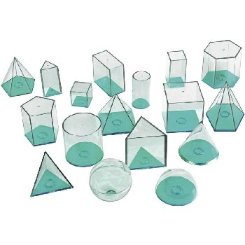 View-Thru Geometric Solids - 17 pcs.