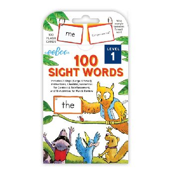 100 Sight Words Flash Cards: Level 1
