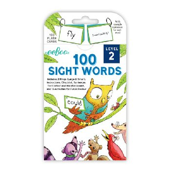 100 Sight Words Flash Cards: Level 2