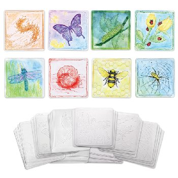 Embossed Paper Set - Insect Collection