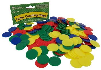 Opaque Counting Chips (4 colors) set of 200