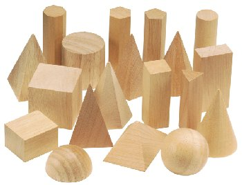 Wooden Geometric Solids 19 pc. Set
