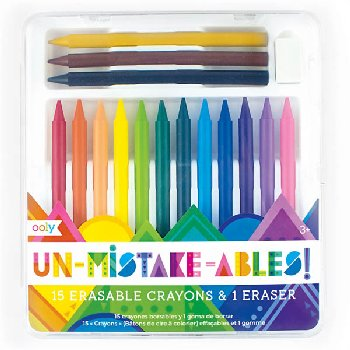 Un-Mistake-Ables! Erasable Crayons & Eraser (set of 16)