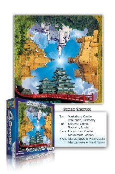 Castle Quartet 550 Piece Puzzle (4 Fronts Collection)