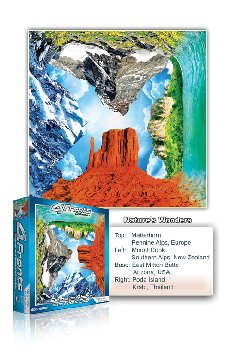 Nature's Wonders 550 Piece Puzzle (4 Fronts Collection)