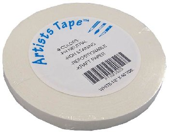 "White Artist Tape - 1/2"" x 60 Yards"