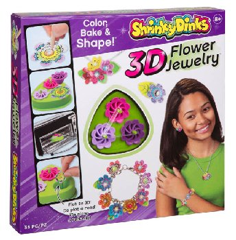 Shrinky Dinks 3D Flower Jewelry