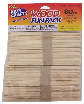 "Craft Sticks - 80 5.75"" Jumbo Natural"