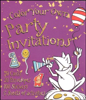 Color Your Own Party Invitations