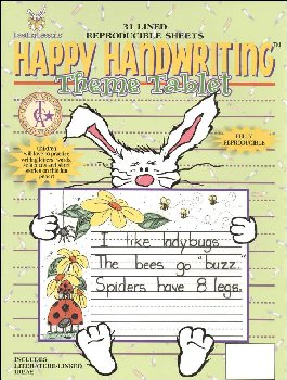 Happy Handwriting Theme Paper