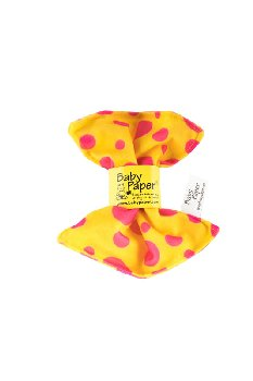 Baby Paper - Yellow Pink Dot