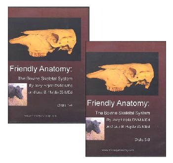 Friendly Anatomy: Bovine Skeletal System 8 Disk DVD