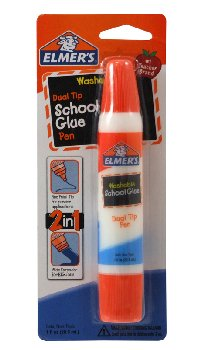 Elmer's School Glue 1 oz. Dual Tip Pen