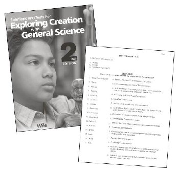 Exploring Creation with General Science Solution Manual w/ Tests